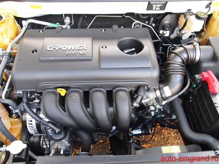 Какой двигатель на Джили Эмгранд ?